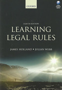 Cover of Learning Legal Rules: A Students Guide to Legal Method and Reasoning