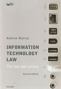 Cover of Information Technology Law: The Law and Society