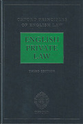 Cover of Oxford Principles of English Law: English Private Law