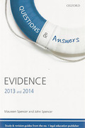 Cover of Questions & Answers: Evidence 2013 and 2014