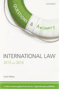 Cover of Questions & Answers: International Law 2013 and 2014 (No New Edition)