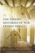 Cover of The Hidden Histories of War Crimes Trials