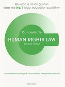 Cover of Concentrate: Human Rights Law