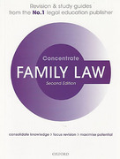 Cover of Concentrate: Family Law