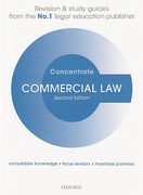 Cover of Concentrate: Commercial Law