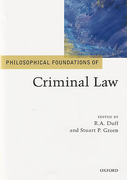 Cover of Philosophical Foundations of Criminal Law