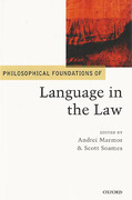 Cover of Philosophical Foundations of Language in the Law