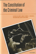 Cover of The Constitution of the Criminal Law