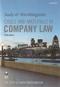 Cover of Sealy & Worthington's Cases & Materials in Company Law