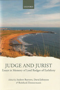 Cover of Judge and Jurist: Essays in Memory of Lord Rodger of Earlsferry