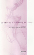 Cover of Oxford Studies in Philosophy of Law: Volume 2