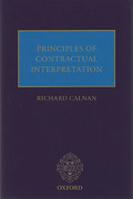 Cover of Principles of Contractual Interpretation