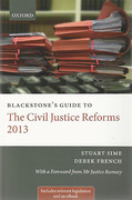 Cover of Blackstone's Guide to The Civil Justice Reforms 2013