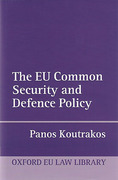 Cover of The EU Common Security and Defence Policy