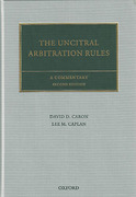 Cover of The UNCITRAL Arbitration Rules: A Commentary