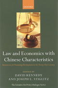 Cover of Law and Economics with Chinese Characteristics: Institutions for Promoting Development in the Twenty-First Century