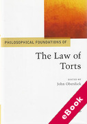 Cover of Philosophical Foundations of the Law of Torts (eBook)