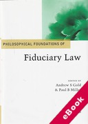 Cover of Philosophical Foundations of Fiduciary Law (eBook)