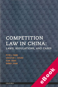 Cover of Competition Law in China: Laws, Regulations, and Cases (eBook)