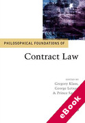 Cover of Philosophical Foundations of Contract Law (eBook)