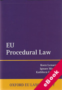 Cover of EU Procedural Law (eBook)