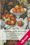 Cover of Comparative Matters: The Renaissance of Comparative Constitutional Law (eBook)
