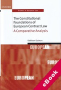 Cover of The Constitutional Foundations of European Contract Law: A Comparative Analysis (eBook)