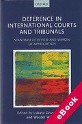 Cover of Deference in International Courts and Tribunals: Standard of Review and Margin of Appreciation (eBook)