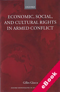 Cover of Economic, Social, and Cultural Rights in Armed Conflict (eBook)