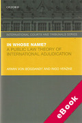 Cover of In Whose Name?: A Public Law Theory of International Adjudication (eBook)