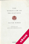 Cover of The Roman Law of Obligations (eBook)