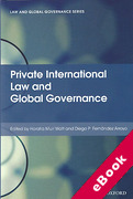 Cover of Private International Law and Global Governance (eBook)