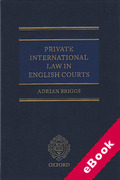 Cover of Private International Law in the English Courts (eBook)