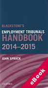 Cover of Blackstone's Employment Tribunal Handbook 2014-2015 (eBook)