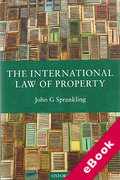Cover of The International Law of Property (eBook)