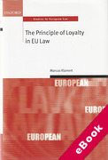 Cover of The Principle of Loyalty in EU Law (eBook)