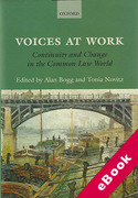 Cover of Voices at Work: Continuity and Change in the Common Law World (eBook)