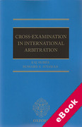 Cover of Cross Examination in International Arbitration (eBook)