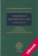 Cover of European Securities Law (eBook)