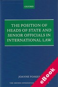 Cover of Position of Heads of State and Senior Officials in International Law (eBook)