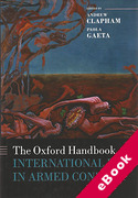 Cover of The Oxford Handbook of International Law in Armed Conflict (eBook)