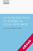 Cover of An Introduction to Empirical Legal Research (eBook)