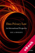 Cover of Data Privacy Law: An International Perspective (eBook)