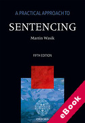 Cover of A Practical Approach to Sentencing (eBook)