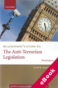 Cover of Blackstone's Guide to The Anti-Terrorism Legislation (eBook)