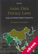 Cover of Asian Data Privacy Laws: Trade and Human Rights Perspectives (eBook)