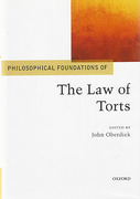 Cover of Philosophical Foundations of the Law of Torts