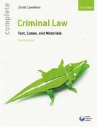 Cover of Complete Criminal Law: Texts, Cases and Materials