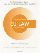 Cover of Concentrate: EU Law
