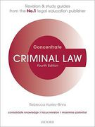 Cover of Concentrate: Criminal Law